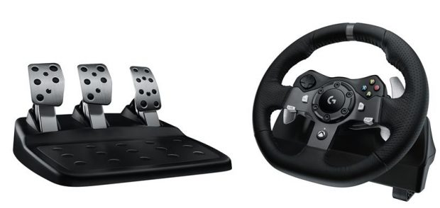 logitech g pr sente son premier volant de course avec retour de force pour xbox one et pc. Black Bedroom Furniture Sets. Home Design Ideas